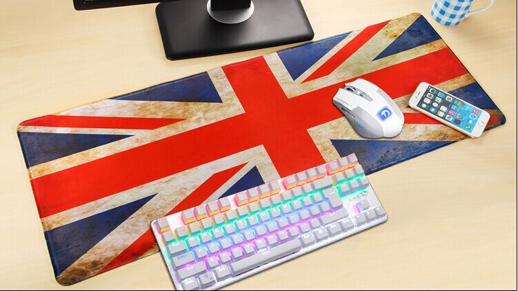 UK United Kingdom Britain Flag lockrand 90cm Big Size Gaming Personalized Durable Mouse Pad Mat Comfort Mice Pads(China (Mainland))