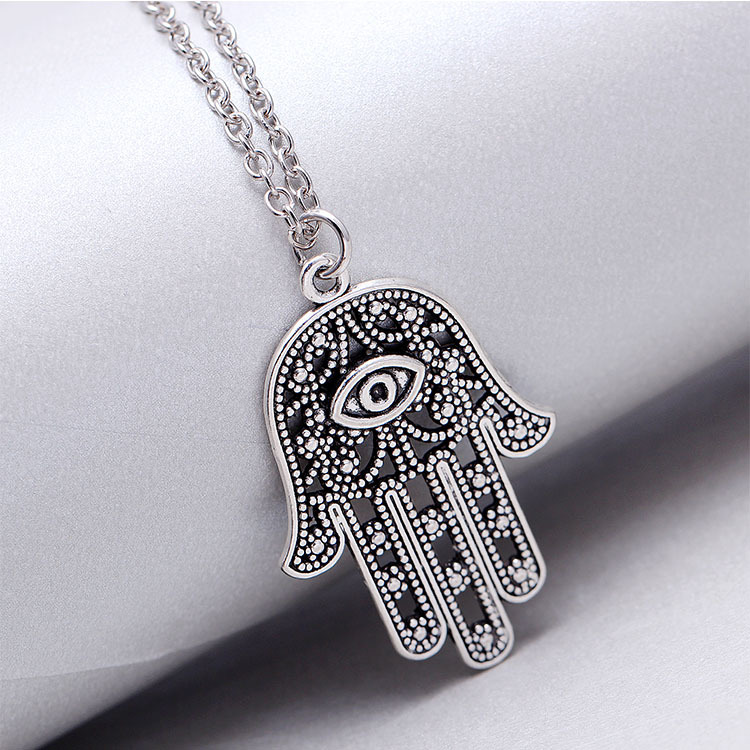 2015 new hamsa necklace pendientes body chain jewelry collier sautoir long gold jewelry pendientes fashion necklace