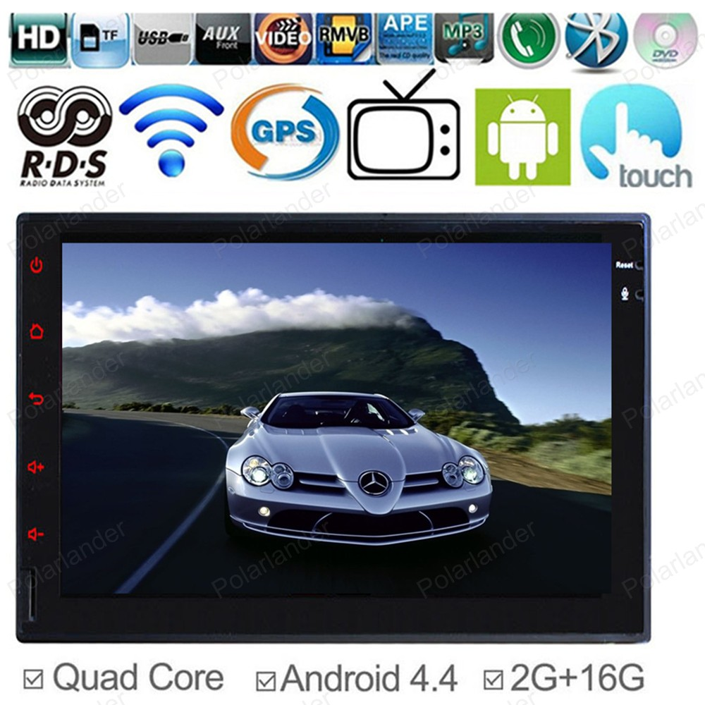 7 HD 2 Din Universal Quad Core Stereo In Dash radio 2G RAM For Android 4