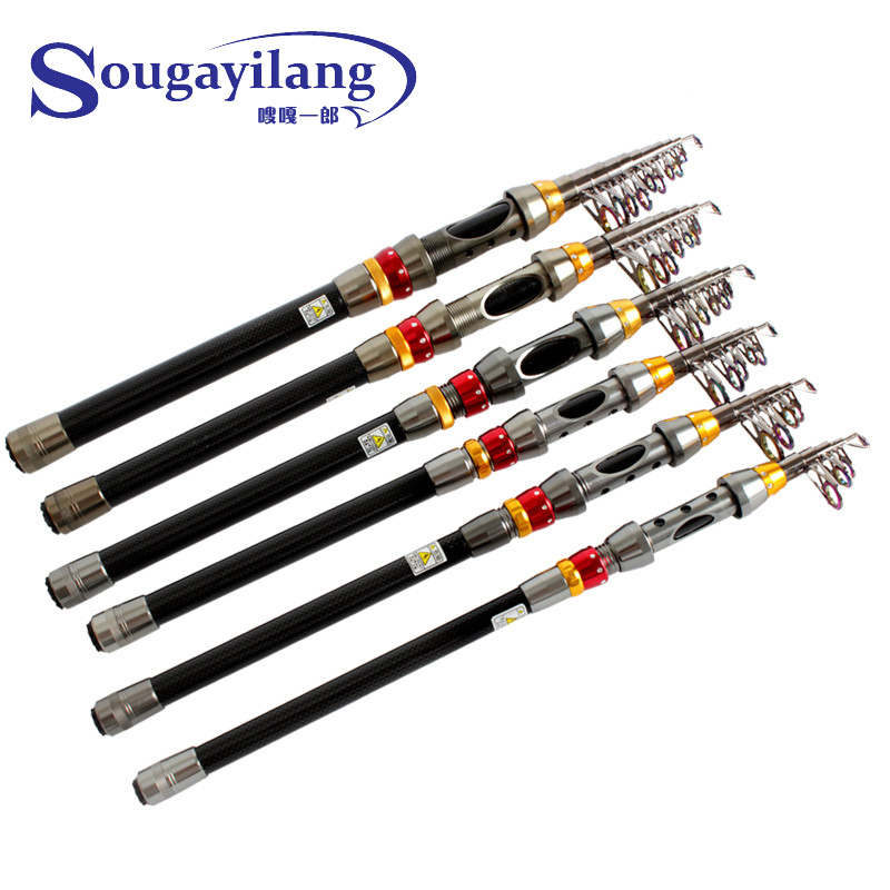 Sougayilang portable telescopic fishing rod for Carbon fiber fishing rod