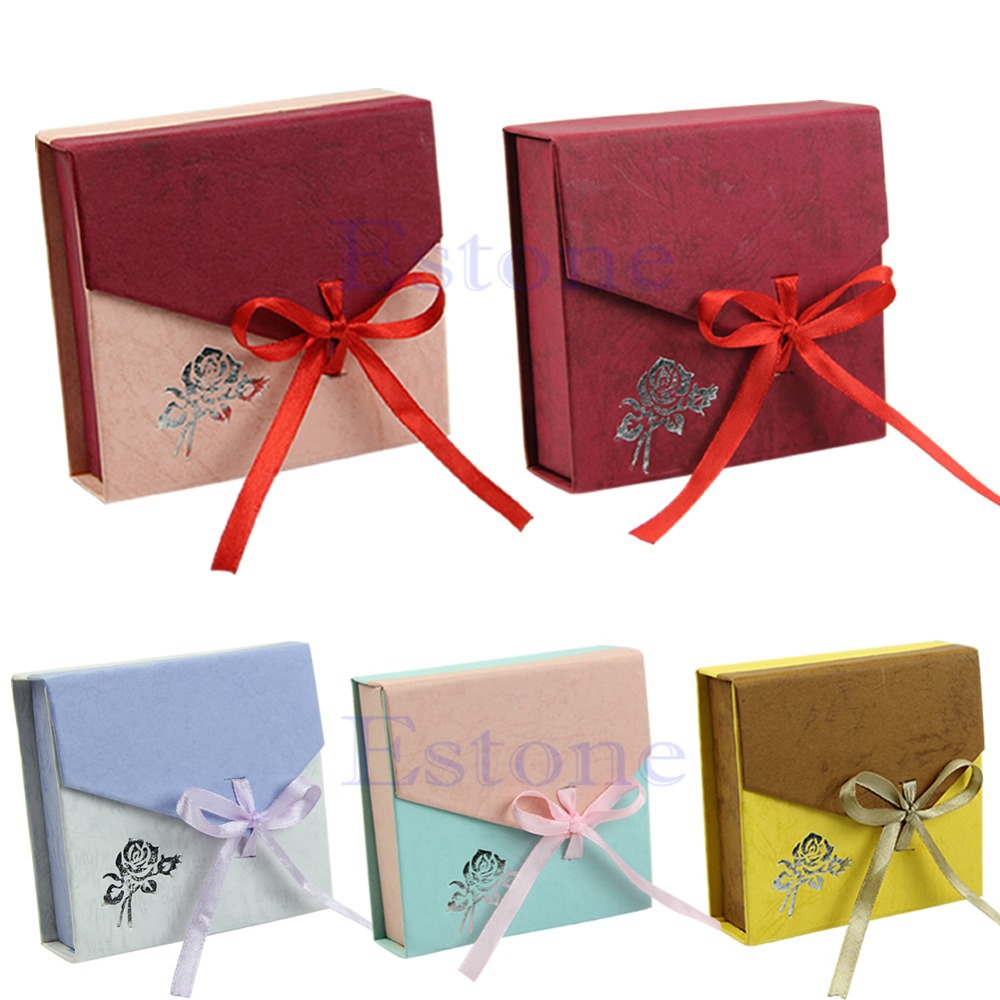 New Square Package Bracelet Bangle Jewelry Bowknot Display Box Gift Present Case(China (Mainland))