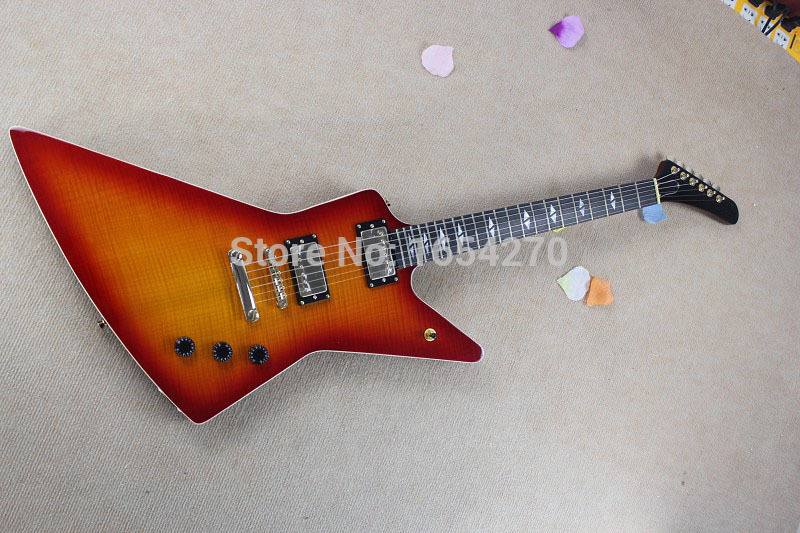 Free Shipping Wholesale New Electric Guitar 6 String Snakebyte Custom James Hetfield Rose Wood guitar In Stock 150708(China (Mainland))