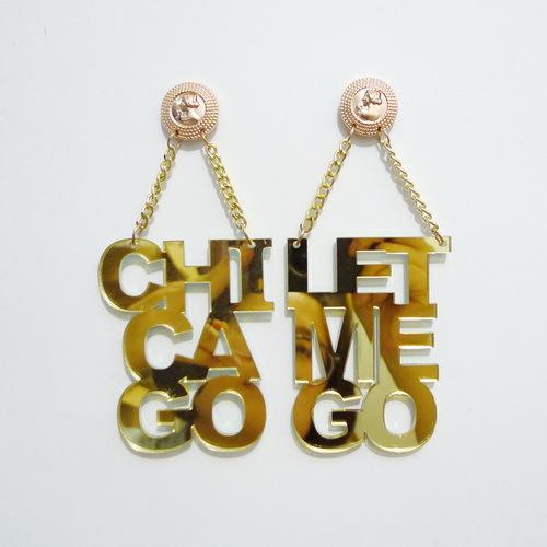 Celebrity CHI CA GO LET ME GO EARRINGS<br><br>Aliexpress