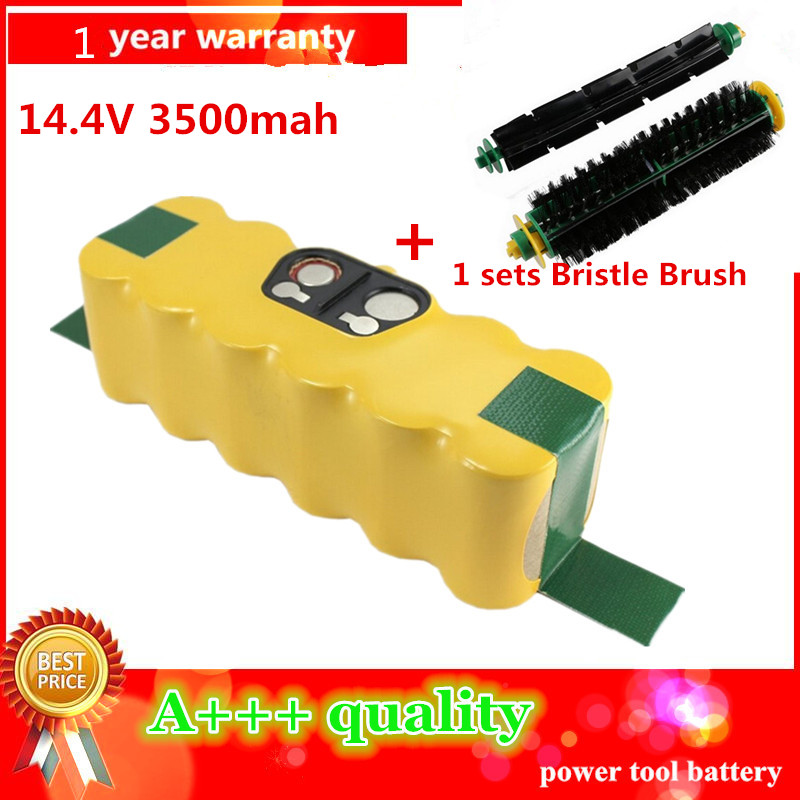 3500mAh High Quality New Battery Pack for iRobot Roomba 500 510,530,535,540,550,560,570,580 Battery Robotics+1sets Bristle Brush(China (Mainland))