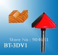 New High Quality Tungsten Carbide V-shaped 3D Carving Bits Cutter For CNC Router 50% Freight Charge Discount(China (Mainland))
