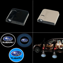 Wireless LED Car Door Logo Projector Welcome Ghost Shadow Light for Forester XV Crosstrek Outback Legacy Impreza Tribeca(China (Mainland))