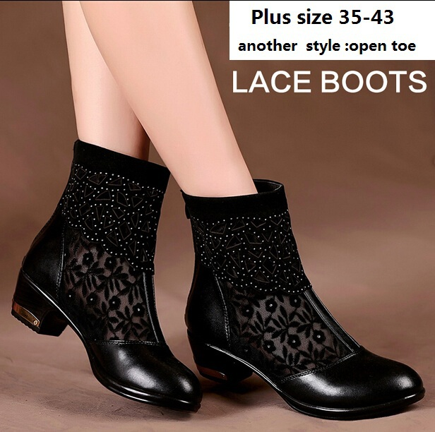 motorcycle women summer boots 2014 thick heel women ...