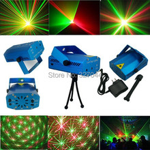 Rgb mini luces del escenario ktv dj disco light proyector láser estroboscópico 110 V - 240 V sonido / auto partido controlado ktv dj(China (Mainland))
