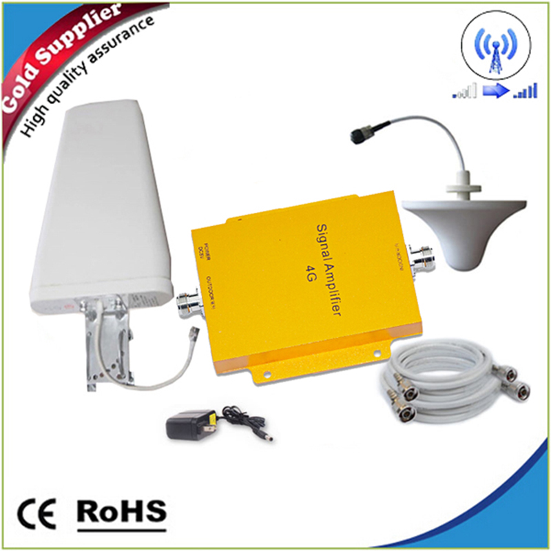 1 Set 65dB Mobile Signal Booster LTE Repeater 4G amplifier 2600MHZ or 700MHz Cell Phone Amplifier 3g 4g cell phone booster kit(China (Mainland))