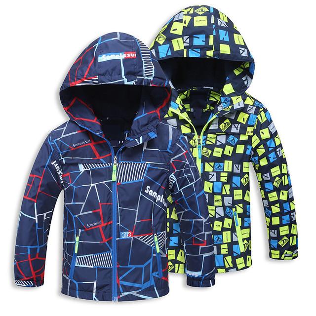 Новый 2016 Весна Осень Дети Верхняя Одежда Куртки Спорт Мода Дети Пальто двухэтажные Водонепроницаемый Ветрозащитный Мальчики Куртки Бренд