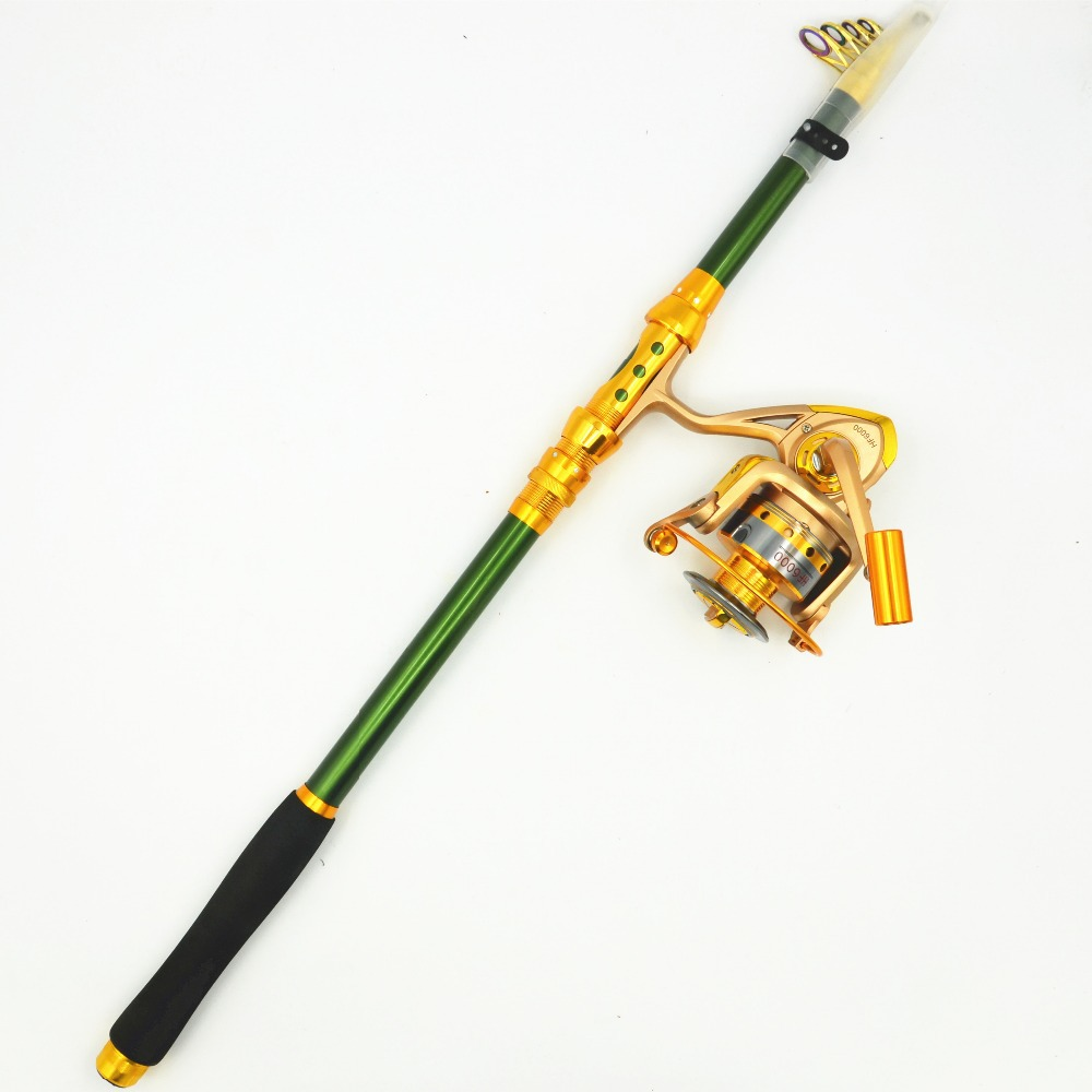 Free shipping top quality 2 1m 3 6m carbon sea portable for Fishing rod set