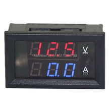 Venta al por menor! tensión de coches medidor de corriente 0.28 Digital del voltímetro del amperímetro DC 0 – 100 V / 10A 4 wire pantalla LED de color dual Red + Blue 3uNk8M