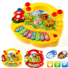 Musical Toys for Children Animal Farm Kids Piano Sound Educational Toy Bady Good Gift(China (Mainland))