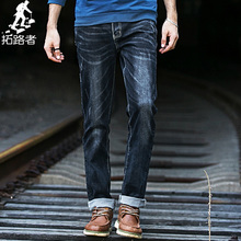2015 New Brand PIONEER CAMP Autumn Winter  Fashion Mens Jeans Elastic Cotton Pants Casual Long Pants Slim Fit Jeans Men(China (Mainland))