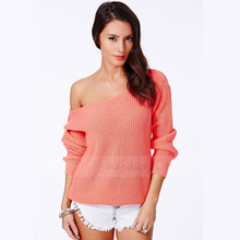 2014 Fashion Style Slash Neck Women Sweater Long Warm Sweaters With Spring/Autumn Colorful For Your Chooce Free Shipping