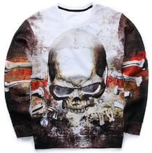 Autumn/winter new sweatshirt men's fashion 3D sweatshirt novelty gun clown printing sudaderas(China (Mainland))
