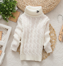 Unisex Winter Autumn solid color Baby Boy Girl Sweater infant Turtleneck Pullover Outerwear