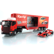 36cm 1:43 SCANIA container truck trailer truck + trailer detachable die cast car model sports car educational toys for children