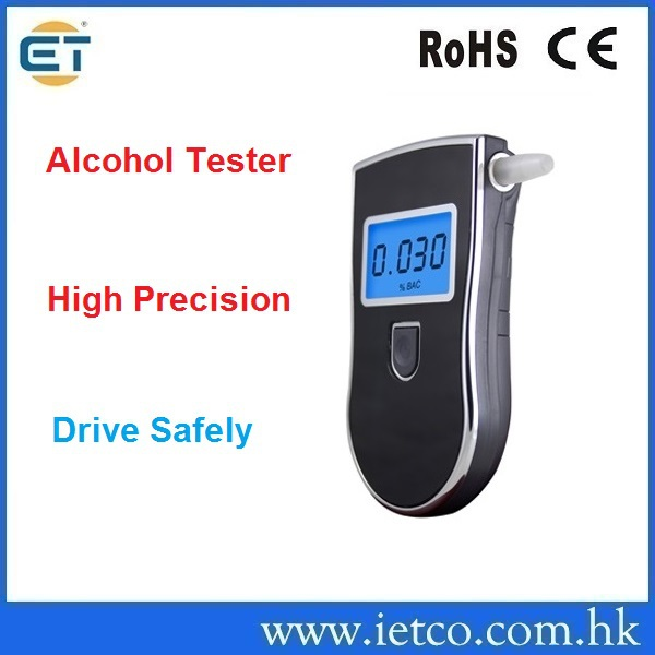 Patent Police Black Digital Alcotest Alcohol Breath Analyzer Detector Breathalyzer Tester Test