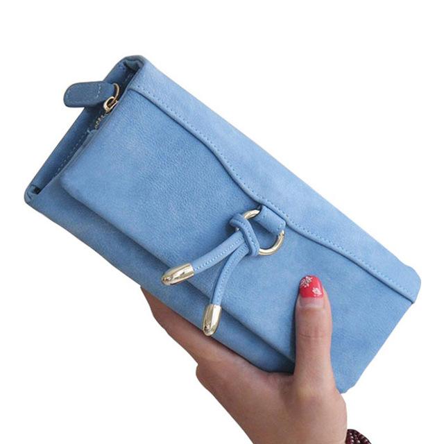 Марка искусственная кожа длинный кошелек женщины бумажник дамы сцепления зажим для ...