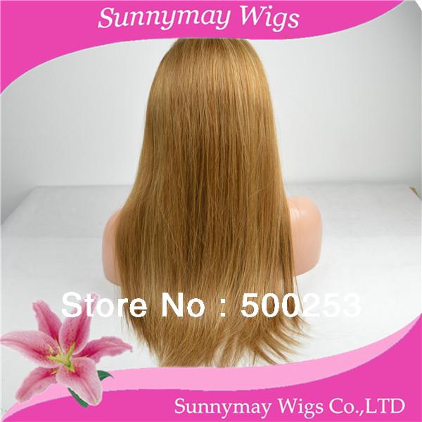 Здесь можно купить  Long Blonde Two Tone Color Cheap 30 Highligh 27 Top Straight 100% Unprocessed Virgin Brazilian Human Hair Machine Made Half Wig  Волосы и аксессуары
