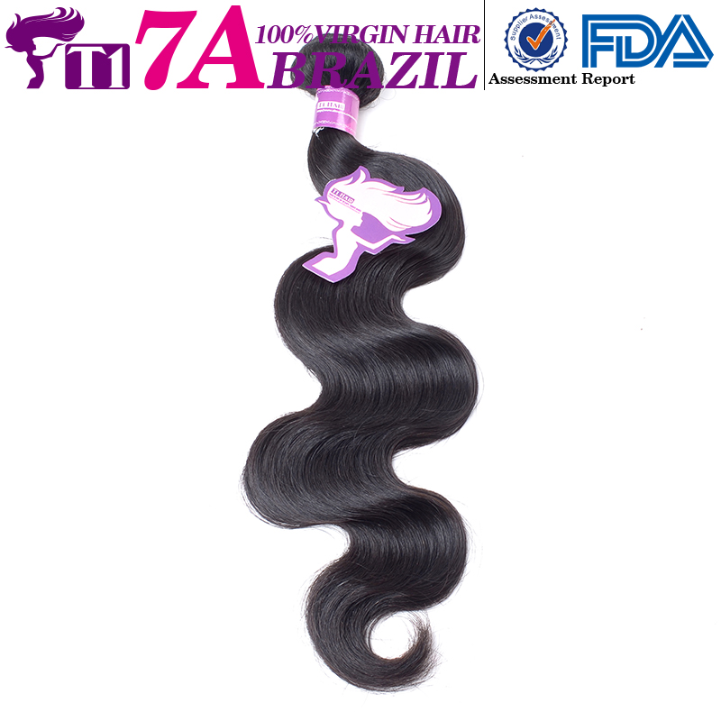 T1 7A body wave brazilian virgin hair hot selling hair extensions 7A top quality ship by dhl(China (Mainland))