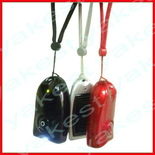 Portable solar cell phone charger with keyring