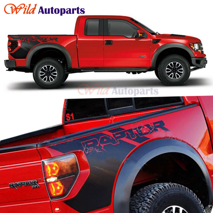 Auto Body Rear Tail Side Trunk Graphics Vinyl Decals SVT Sticker For Ford F150 Raptor 2009 2010 2011 2012 2013 2014(China (Mainland))