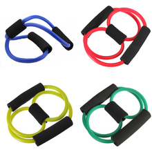 Resistance Training Exercise Muscle Elastic Band Tube Weight Control Fitness Equipment For Yoga Multicolor Durable