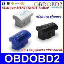 Ultima versione v2.1 super mini elm327 bluetooth obd/obd2 wireless olmo 327 multi-lingua 12 tipi funziona su android torque/pc(China (Mainland))