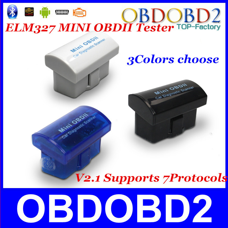 Latest Version V2.1 Super MINI ELM327 Bluetooth OBD/OBD2 Wireless ELM 327 Multi-Language 12Kinds Works ON Android Torque/PC(China (Mainland))