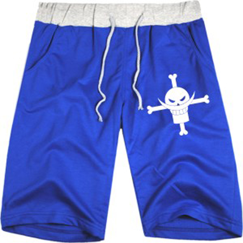 Anime One Piece Ace Clothing OP Fire First Ice White Beard Sports Casual Fifth Anime Shorts Men Wholesale 7 Colors(China (Mainland))