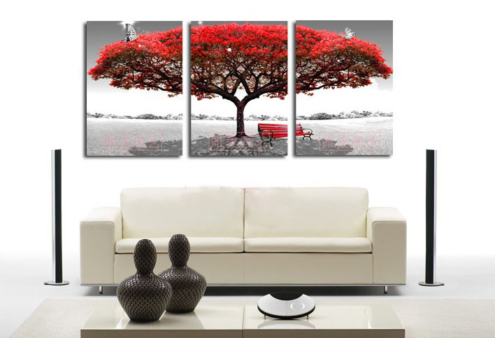Free shipping 100% High Quality best-selling tree Home Wall Huge Decoration Modern Abstract Oil Painting on canvas(China (Mainland))