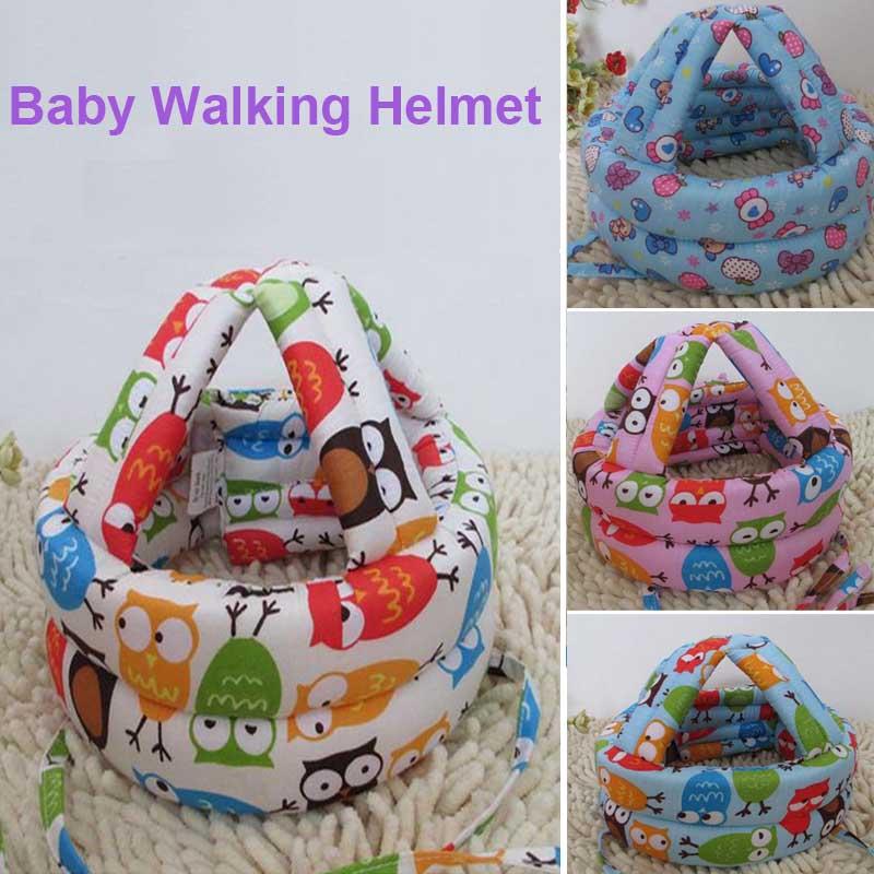 2016 Newest Baby Kids Walking Safety Helmet Headguard Head Protector Hats No Bumps Adjustable Warm Caps Hats(China (Mainland))