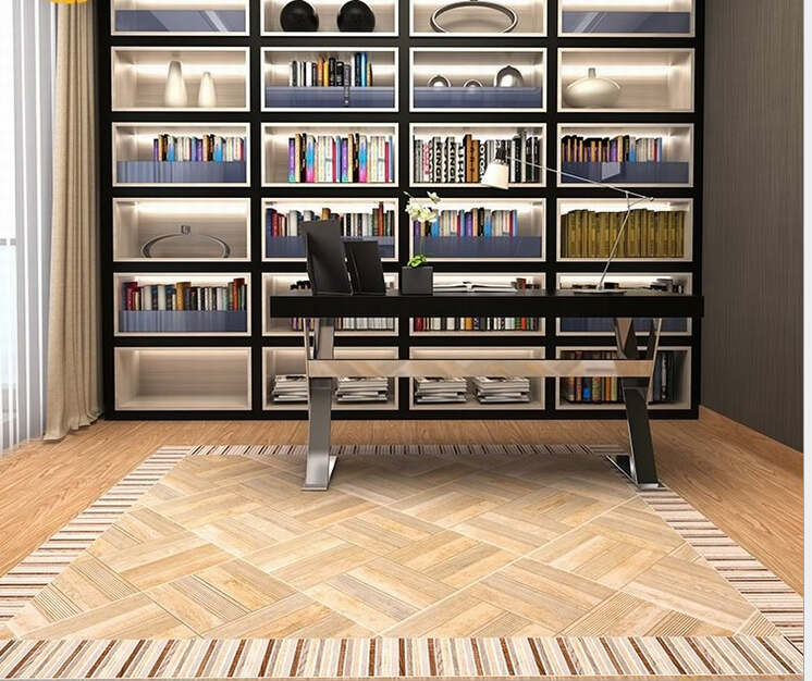 Floor tiles Wood brick 600 * 600 Home Building Materials Restaurant / Study Waterproof anti-skid function Ceramic tile(China (Mainland))