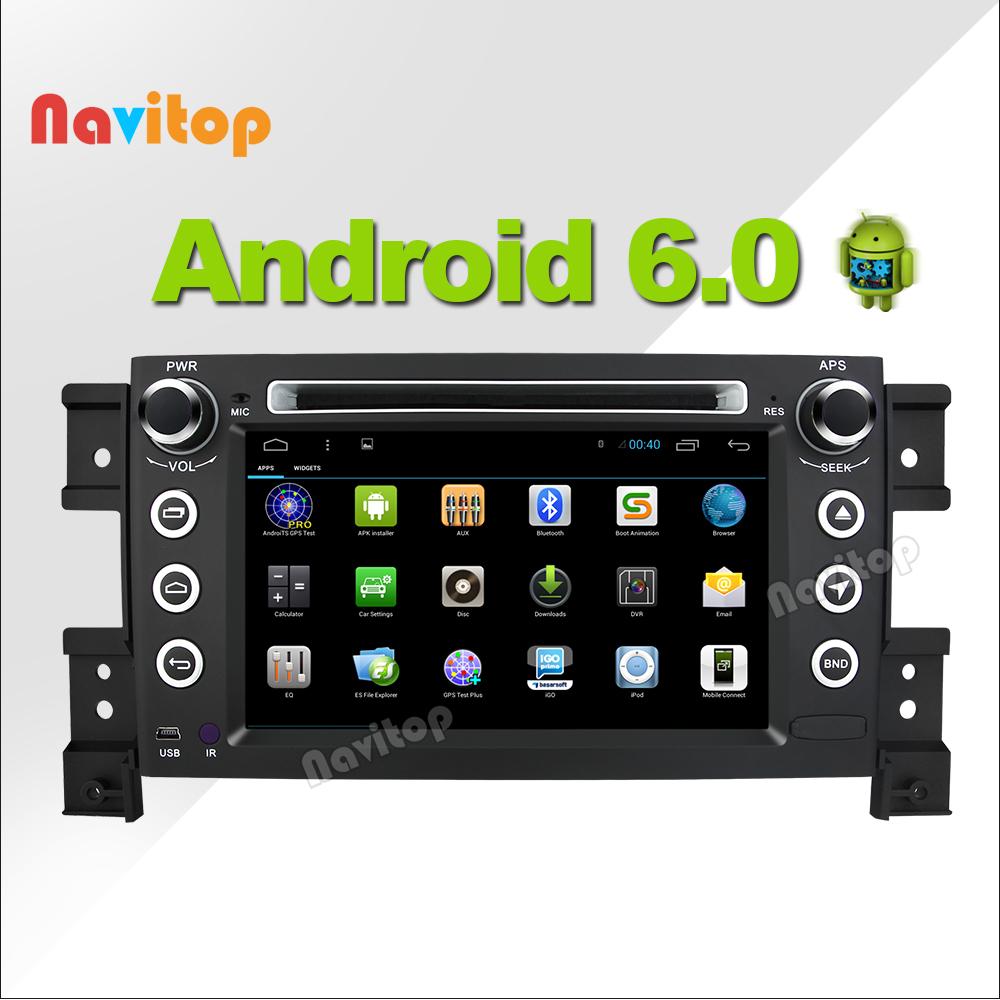 Navitop Android 6.0 car dvd player gps for Suzuki grand vitara 2 din in dash 1064*600 radio stereo navigation gps(China (Mainland))