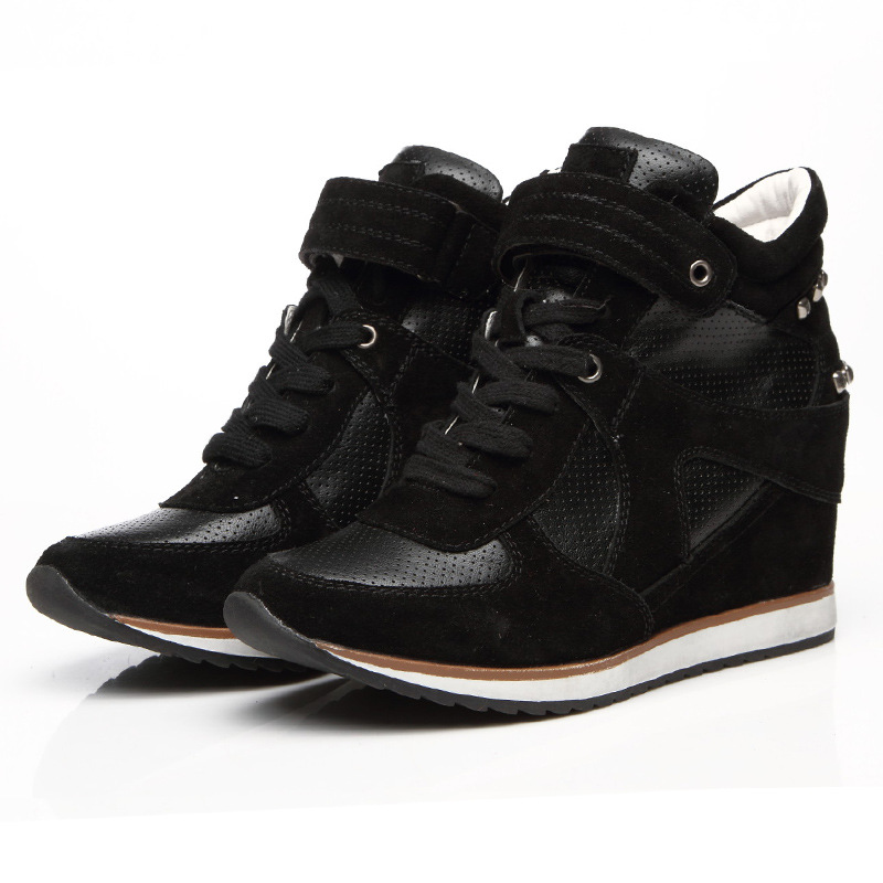 2014 HOT Increased Casual Women Shoes Korean Versionnew European Ladies Boots Height Increasing Sneakers F091 - E-Life Mall store