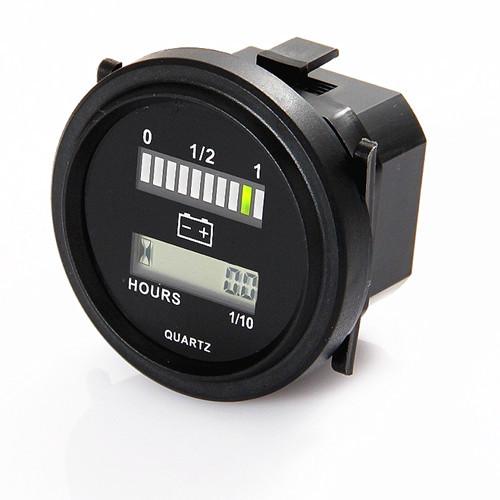 LED Battery Indicator and Hour Meter 12V 24V 36V 48V 72V For All Purpose Battery Meter Gauge Y2009(China (Mainland))