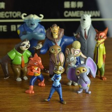 Zootopia Animal Crazy Town bunny Judy Fox Nick set 12 hand model doll doll ornaments
