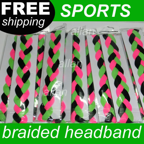 800pcs New product braided non slip baseball softball sports headband(China (Mainland))