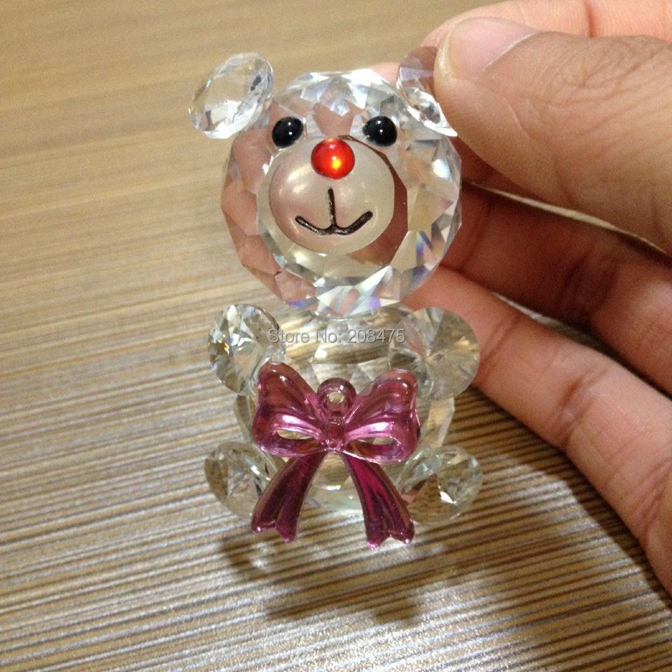 Free Shipping!mini crystal glass bear models,glass bear figurines,small crystal bear for children gifts(China (Mainland))