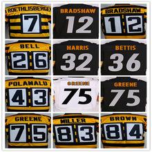 Artie Burns Jersey Ben Roethlisberger Le'Veon Bell Troy Polamalu Ryan Shazier Antonio Brown jersey,Size S-4XL Custom Any Jersey(China (Mainland))