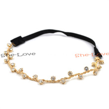 Bohemian Women Metal Pearl Head Chain Jewelry Forehead Headband Piece Hair band Hair Accessories(China (Mainland))