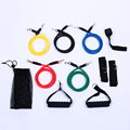 Free shipping 2016 NEW 11 Pcs Resistance Bands Set Tube Gym Exercise Set Yoga Fitness CS