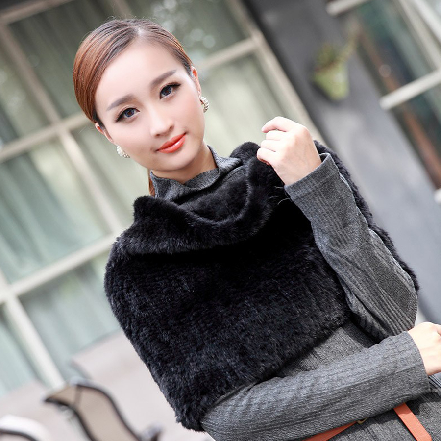 DL-12719 Hot sale Real Mink Fur Scarf Women Knitted Natural Mink Fur Scarves Winter Neck Wrap Women Warmer Fashion Natural Shawl(China (Mainland))