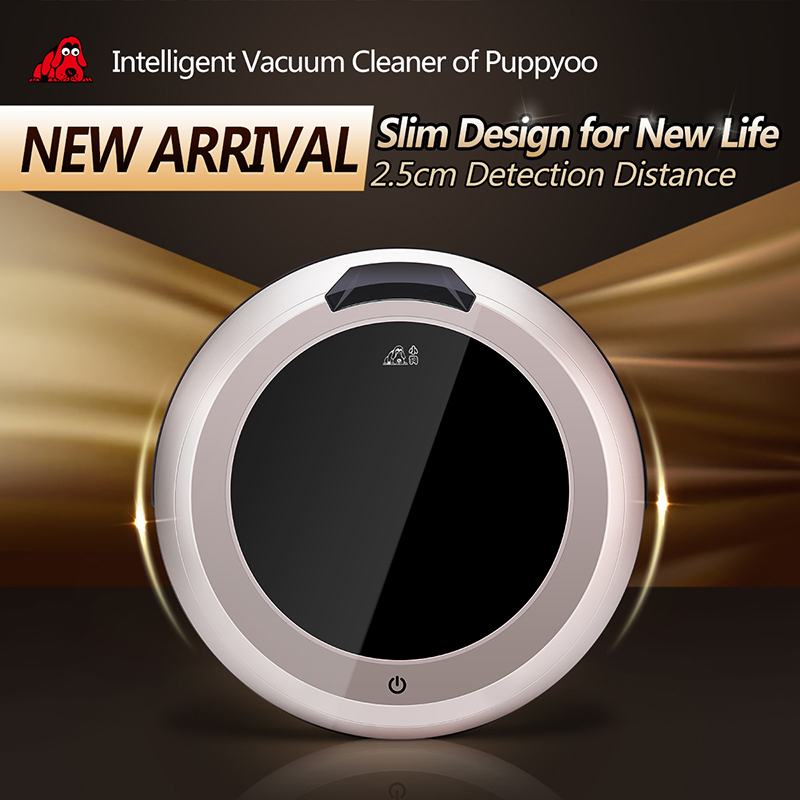 Multifunction Intelligent Robot Vacuum Cleaner Self-Charge for Home,LED Touch Screen ,Remote Control, V-M611 PUPPYOO(China (Mainland))