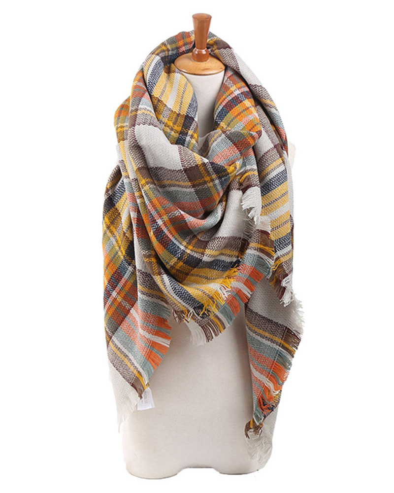 Hot Fashion Women Plaid Scarf Multifunctional font b Tartan b font Awesome Gorgeous Oversized Shawl Pashmina