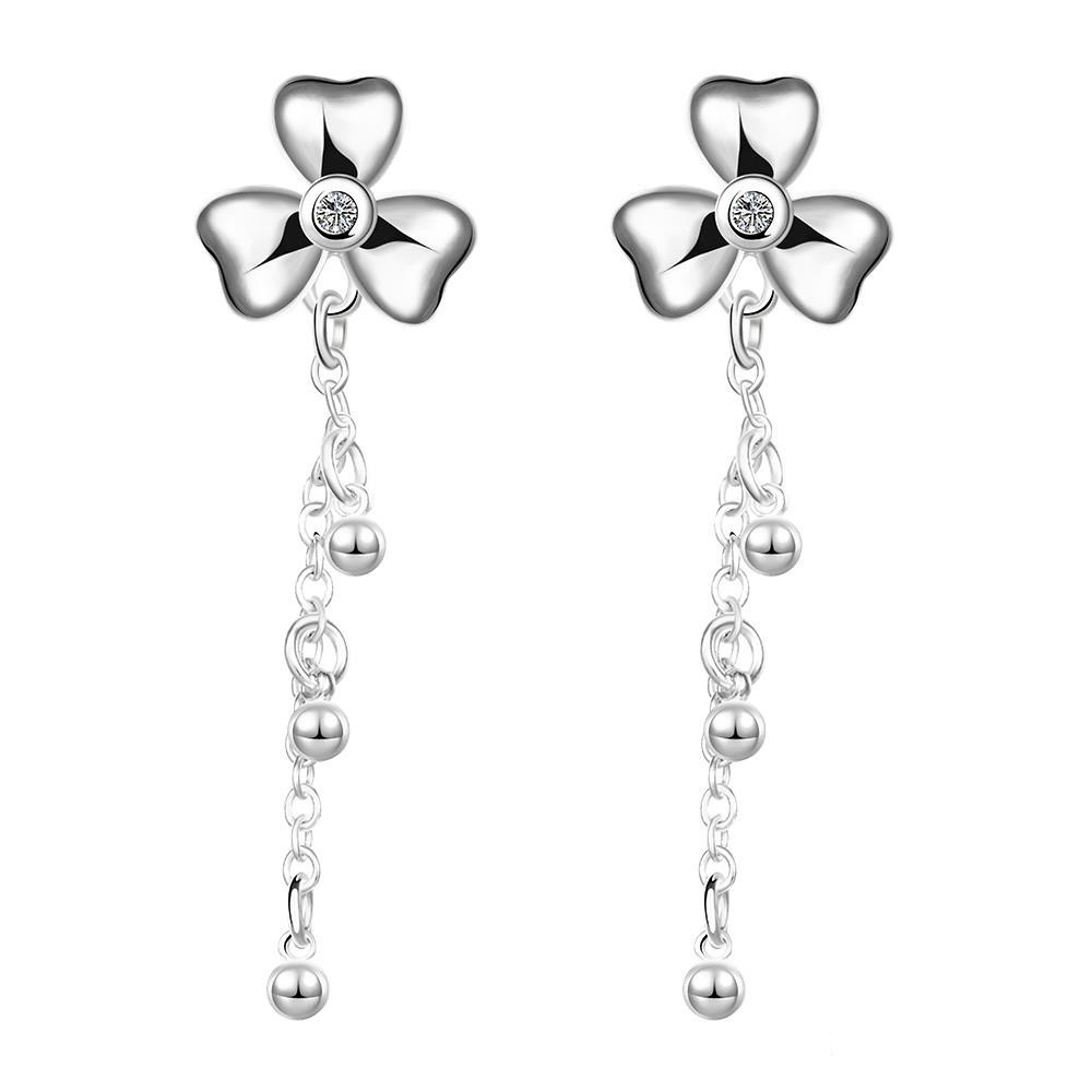 925 sterling silver earrings crystal 925 sterling silver earrings boucles d'oreille women pendientes plata 925 long earrings(China (Mainland))