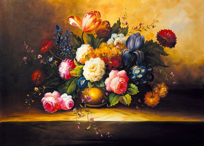 Canvas Painting world famous Classic flower Art Picture Home Decor simulation of oil painting P-101(China (Mainland))