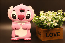 Case LG L Bello 2 II 5 inch Cute 3D Cartoon Pink Stitch Phone Housing Soft Silicon Back Max X155 Cover - T3C MALL STORE store